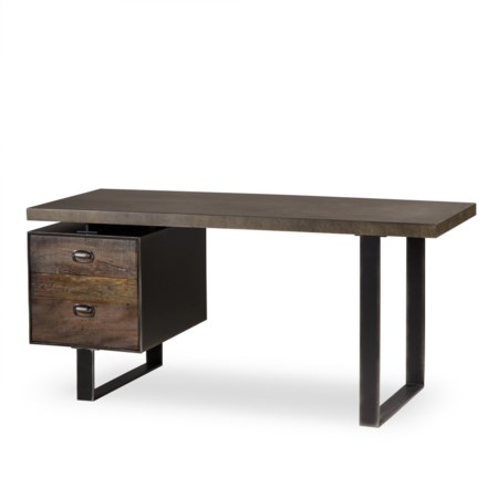 Charles Desk - Single Ped / Concrete