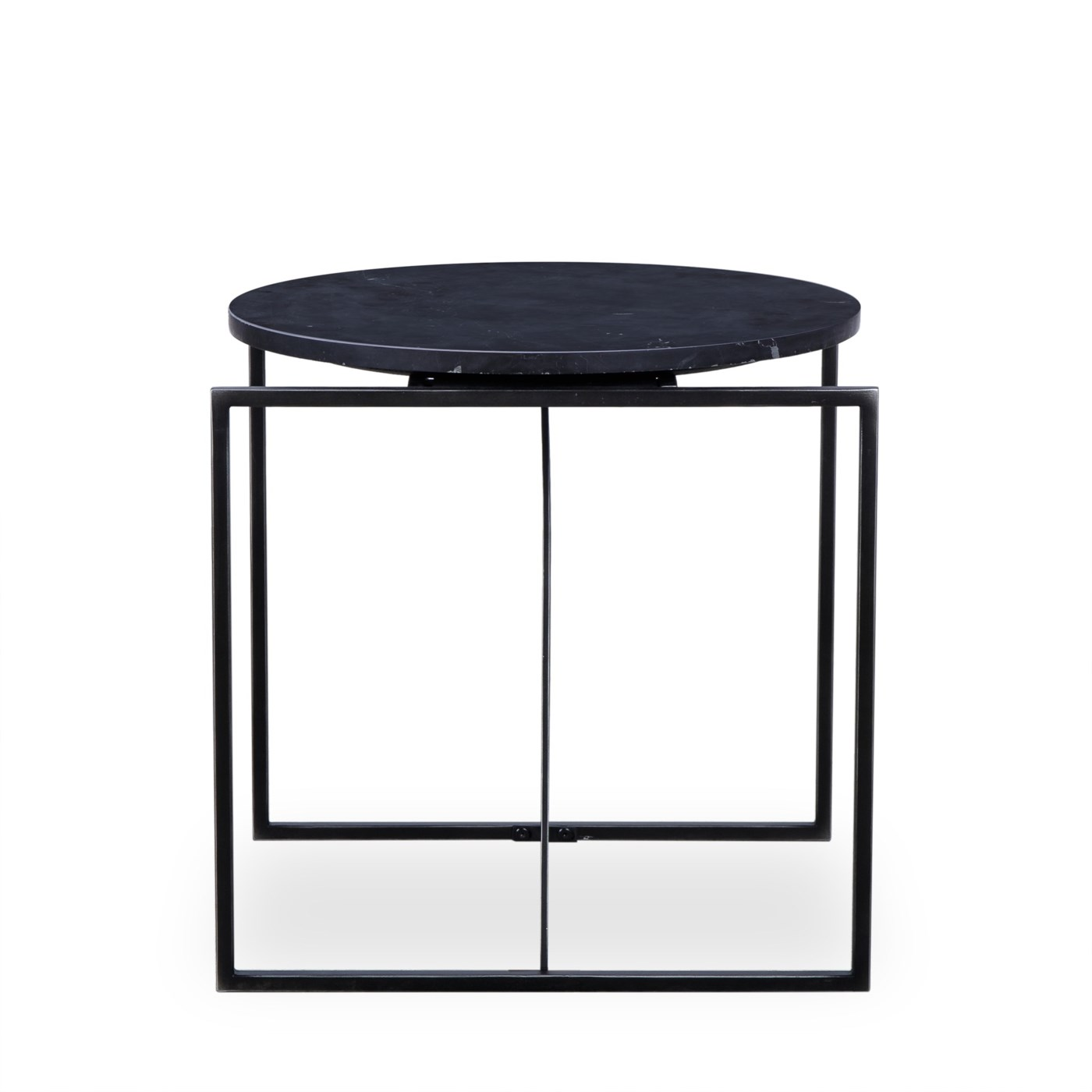 Georgina Side Table - Black Marble
