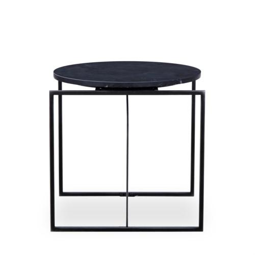 Georgina Side Table - Black Marble