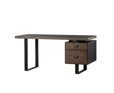 Charles Desk - Concrete Top / Drift Wood - Dark