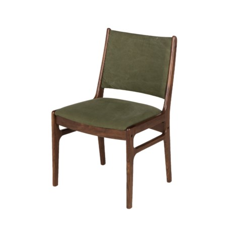 Fred Side Chair - Green Canvas