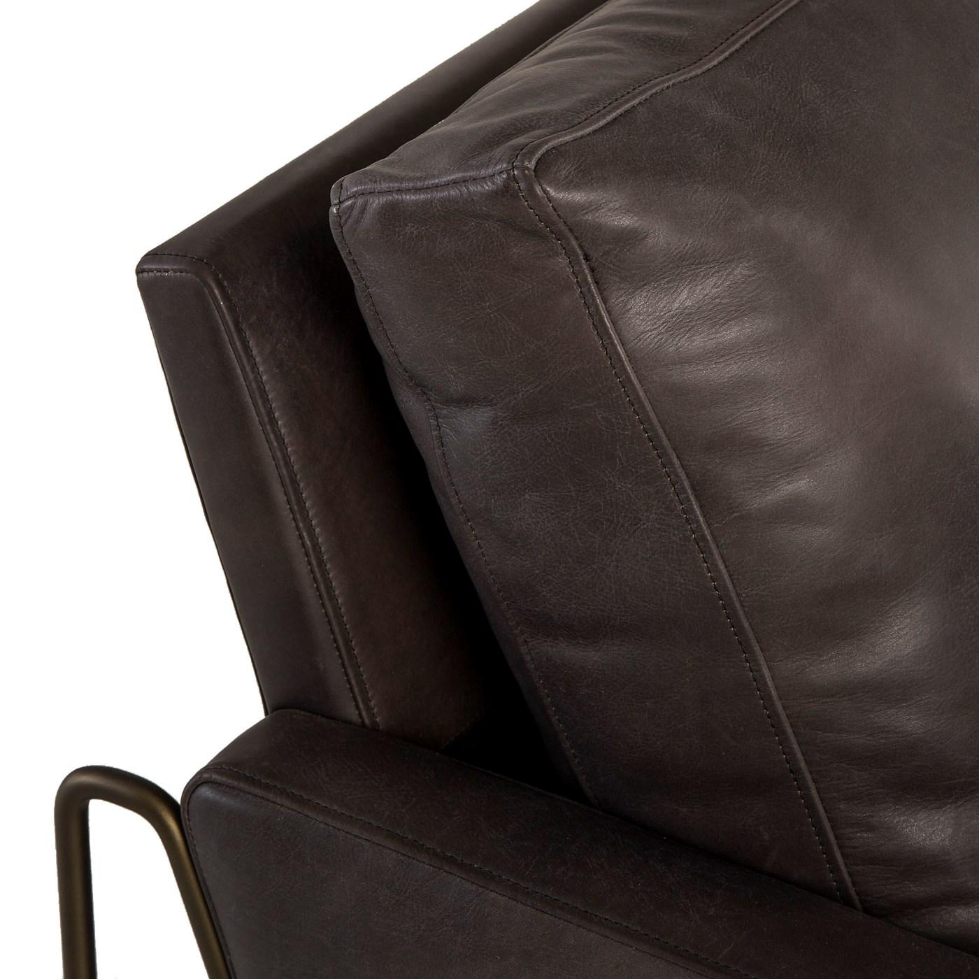Vanessa Chair - Destroyed Black Leather