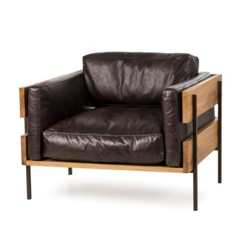 Carson II Chair - Antique Espresso Leather