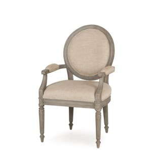 Nichole Arm Chair - Textured Linen