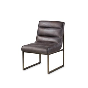 Noah Side Chair - Destroyed Black Leather
