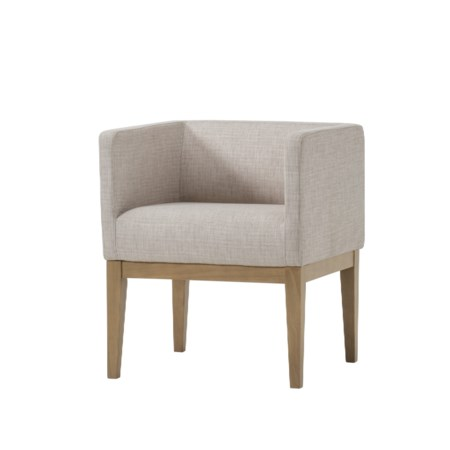 Newport Dining Chair - Natural Oak / Off White