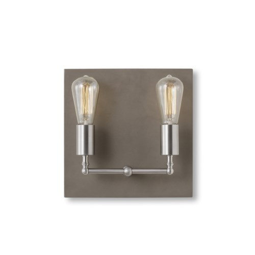 Factory Sconce - Double / Nickel / 120v US
