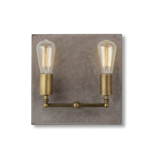 Factory Sconce - Double / Aged Brass / 120v US