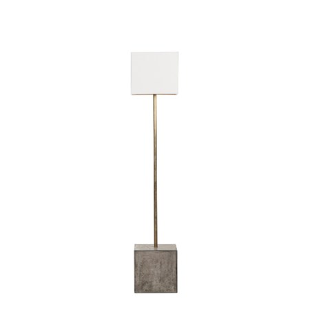 Untitled Floor Lamp - Square / White Shade / 120v US
