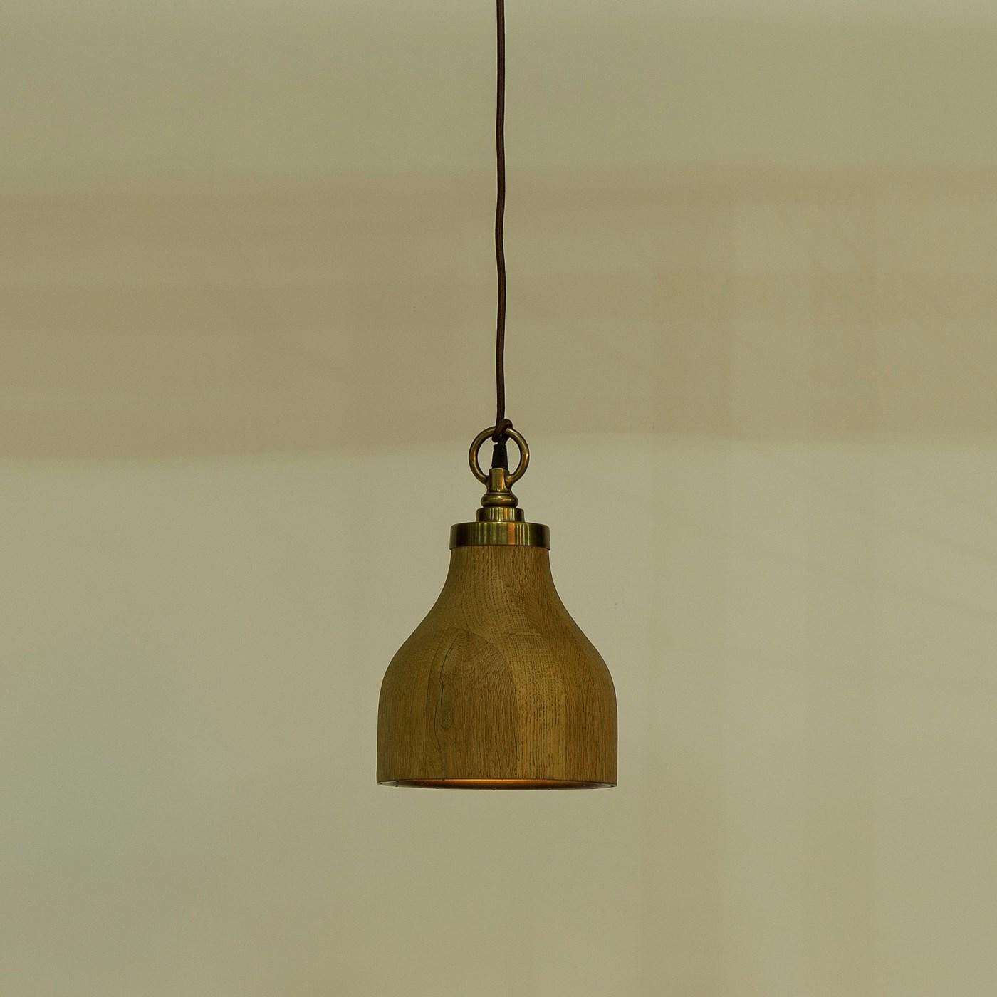 Natural Oak Pendant - Small / 120v US