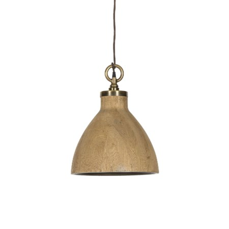Natural Oak Pendant - Medium / 120v US