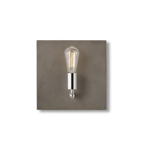 Factory Sconce - Single / Nickel / 120v US