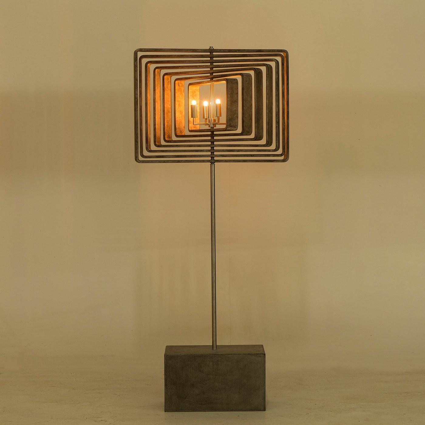Spiral Driftwood Floor Lamp - 7 Layer / 120v US
