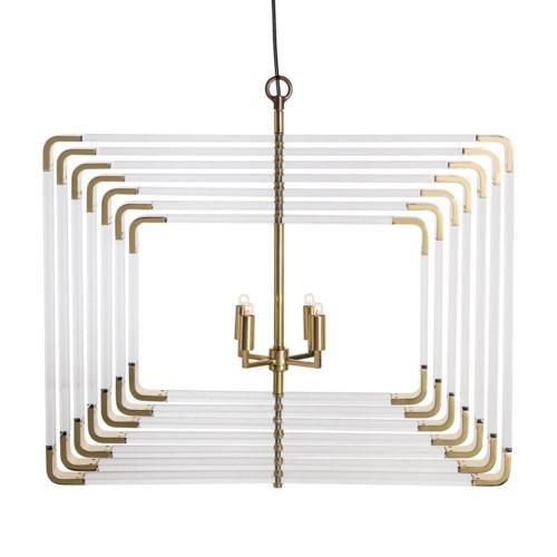 Spiral Acrylic - 7 Layer / Brass / 120v US