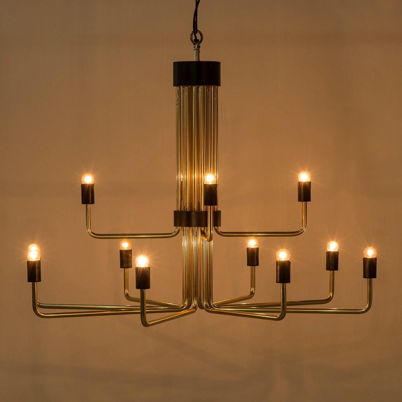 Le Marais Chandelier - 12 Light / Brass / 120v US