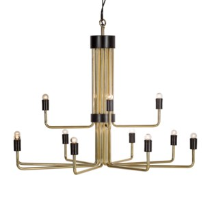 Le Marais Chandelier - 12 Light / Brass / 120v US
