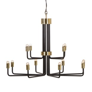 Le Marais Chandelier - 12 Light / Black / 120v US