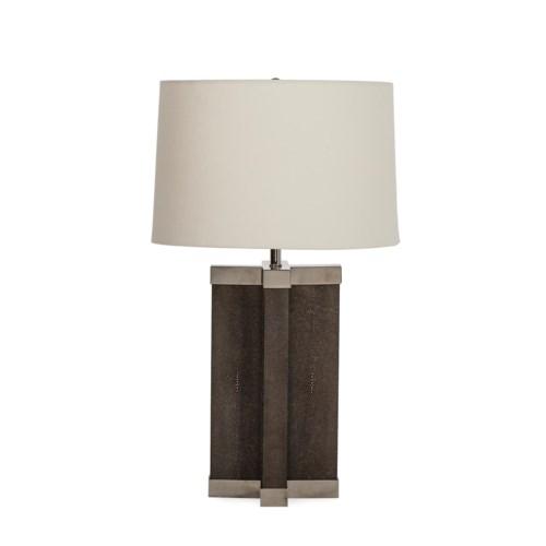Shagreen Lamp - Grey / White Shade / 120v US