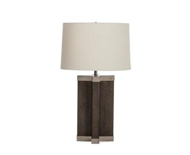 Shagreen Lamp - Grey / White Shade