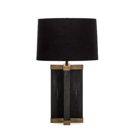 Shagreen Lamp - Black / Black Shade / 120v US