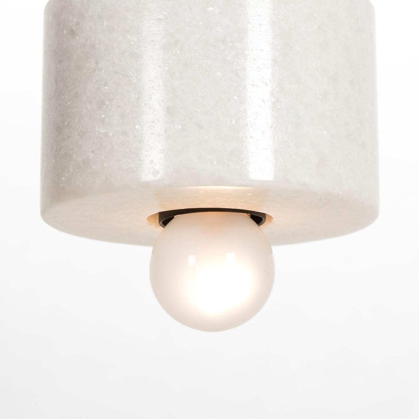 Marble Plate Pendant -White / 120v US
