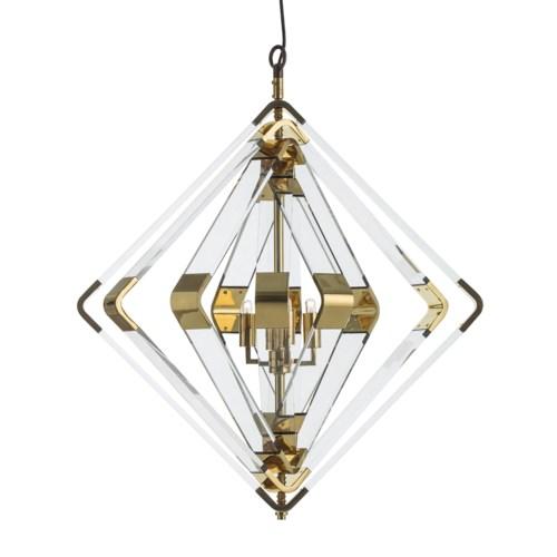 Spiral Acrylic Diamond - 5 Layer / Brass / 120v US