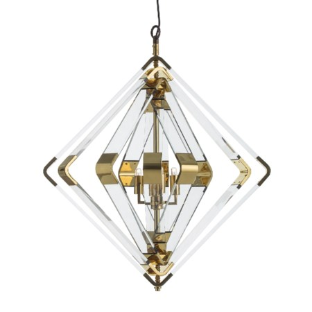 Spiral Acrylic Diamond - 5 Layer / Brass / 120v US