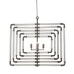 Spiral Acrylic Stream - 5 Layer / Nickel / 120v US