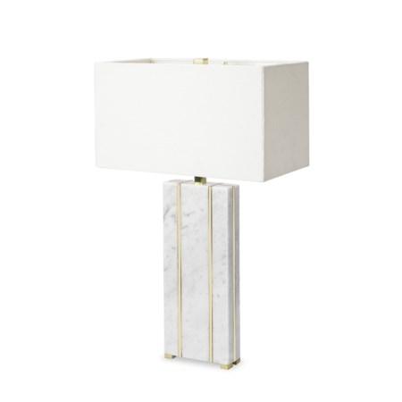 Marble Table Lamp - Rectangular / 120v US