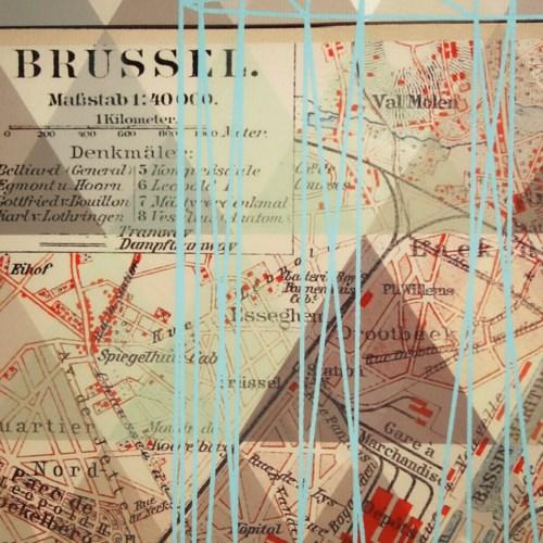 Vintage Map - Brussels
