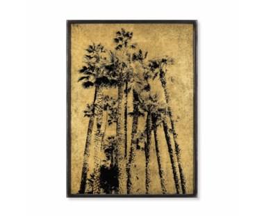 Eglomise - Santa Monica Palm Trees / Gold Leaf