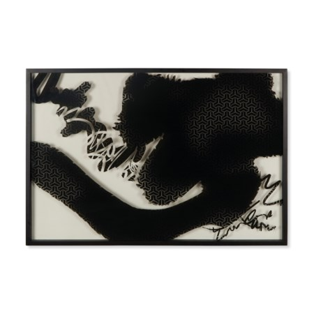 Ink Strokes On Glass