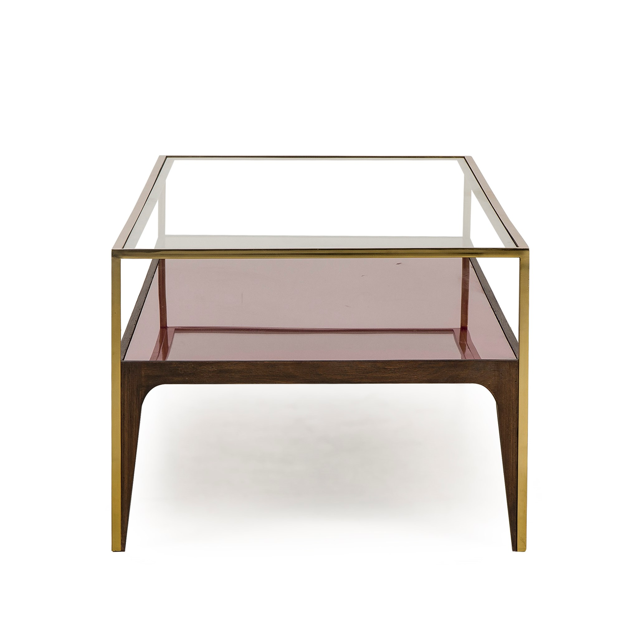 ... Rubylite Coffee Table   Pink Glass ...