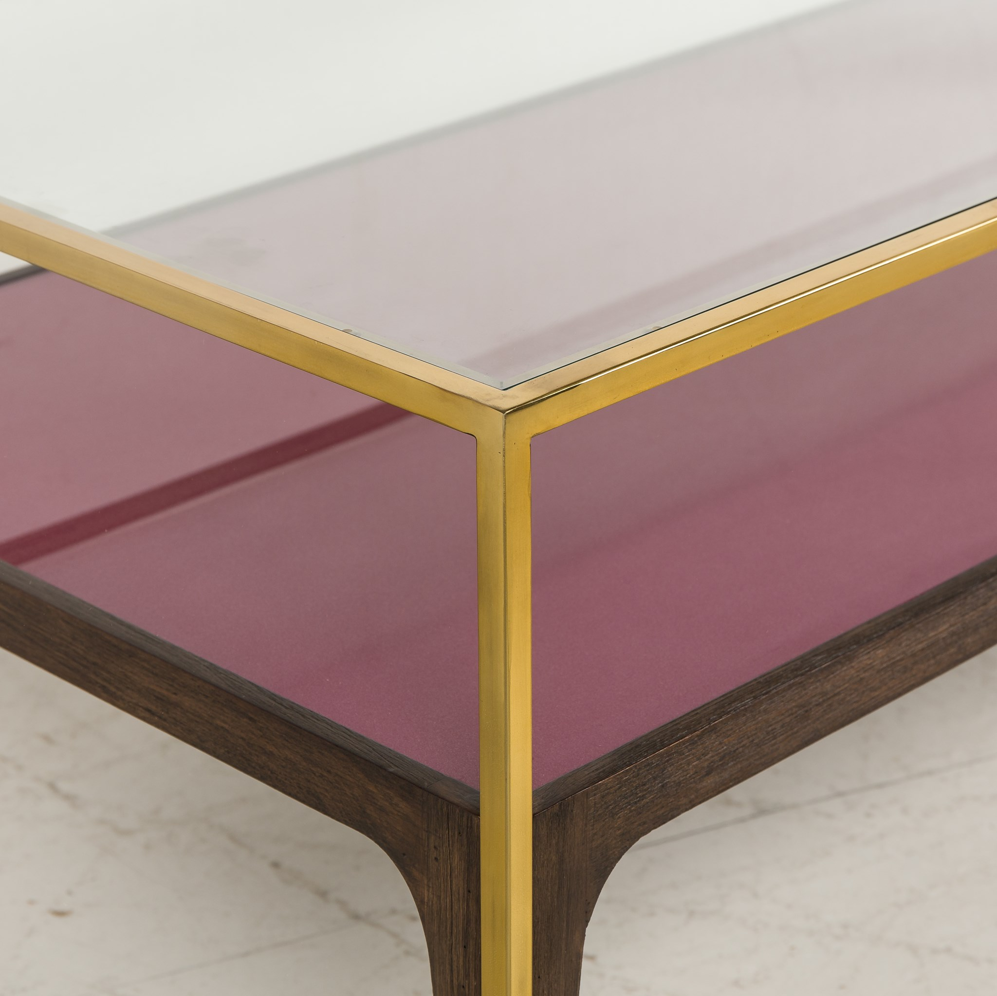 ... Rubylite Coffee Table   Pink Glass
