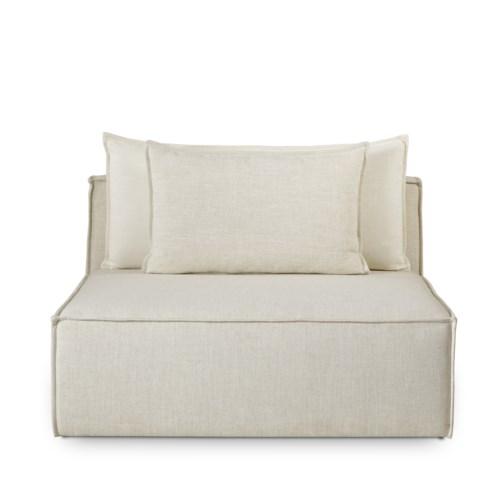 Charlton Modular Sofa - Armless Chair - Madison Dove