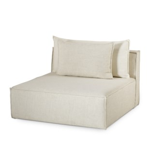 Charlton Modular Sofa - Armless Chair - Madison Dove