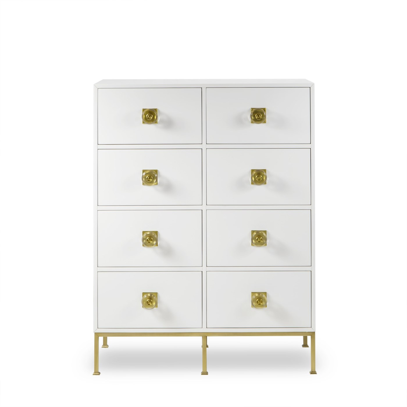 Formal Dresser - 8 Drawer / White Lacquer