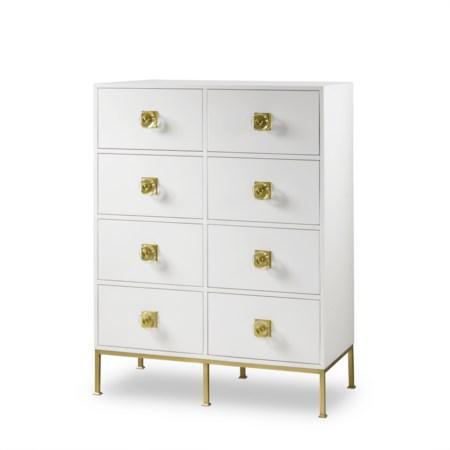 Formal Dresser - 8 Drawer / White Lacquer