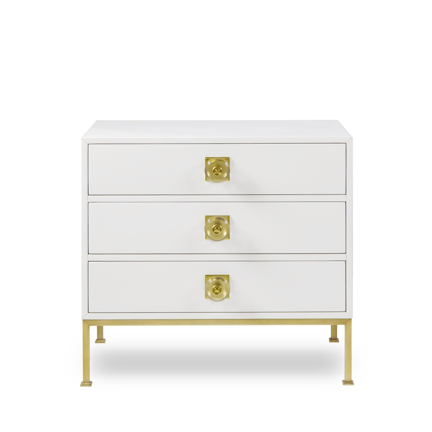 Formal Chest - 3 Drawer / White Lacquer