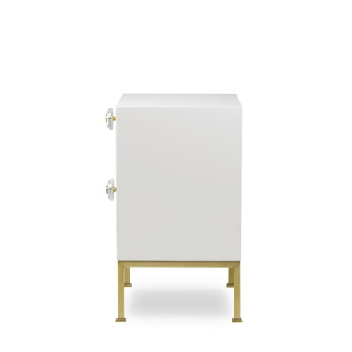 Formal Nightstand - White Lacquer