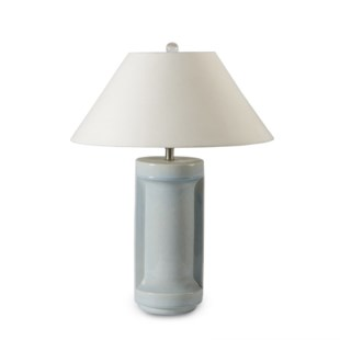 Ming Ceramic Lamp - Sky Crackle Blue / 120v US