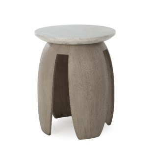 Gray Pedestal Table