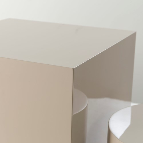 Morgan Accent Table - Square / Pebble Lacquer