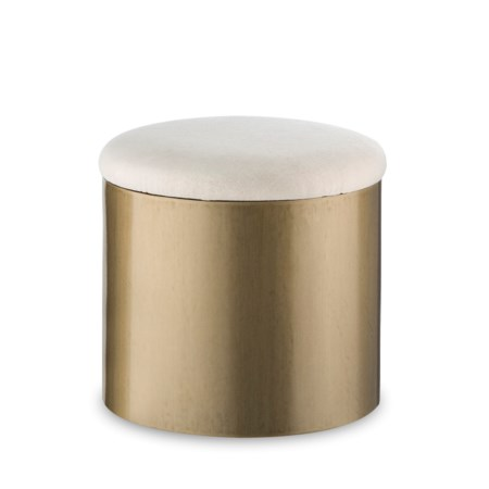 Morrison Ottoman - Round / Brushed Brass