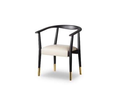 Soho Dining Chair - Matt Black / Fawn Prestige