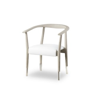 Soho Dining Chair - Grey Oak / Fallon White Leather