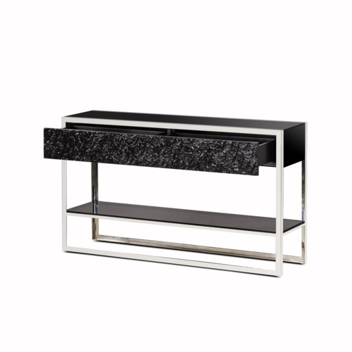Dexter 2 Drawer Console - Stainless Steel