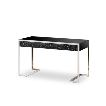 Dexter 2 Drawer Desk - Stainless Steel