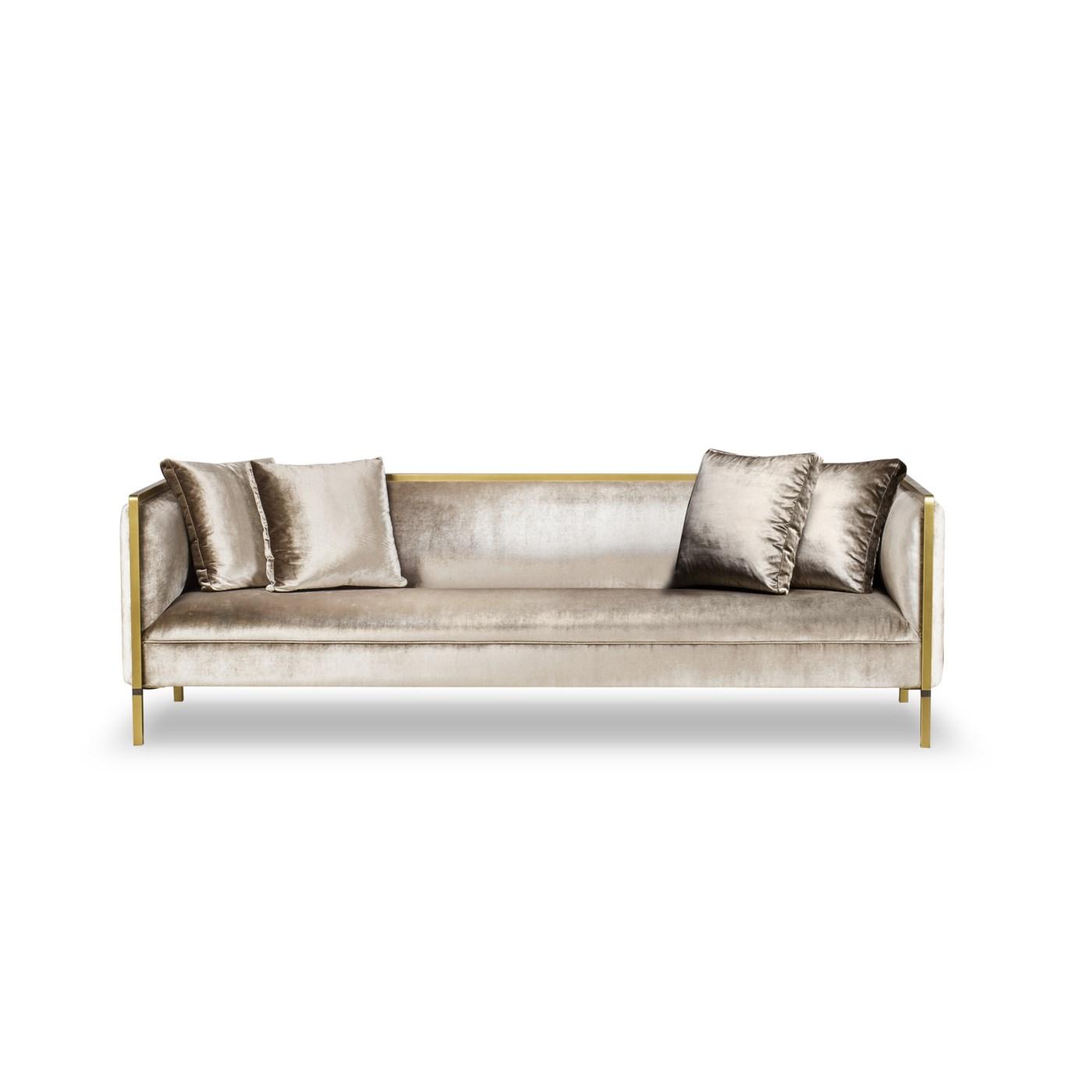 Jeeves Sofa - Large / Moki Fabric