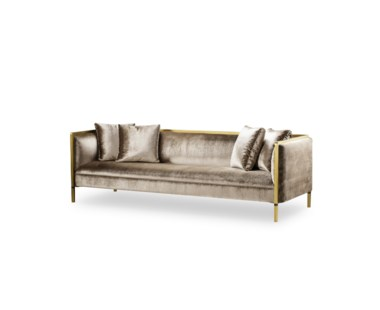 Jeeves Sofa - Large / Moki Fabric